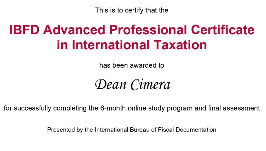 Dean Cimera položio je APCIT certifikat